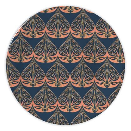 Art Deco (Coral & Blue) China Plate