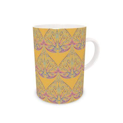 Art Deco (Yellow) Bone China Mug