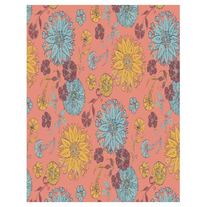 Multi-Florals (Coral & Yellow) Tray