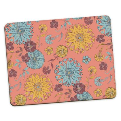 Multi-Florals (Coral & Yellow) Placemats