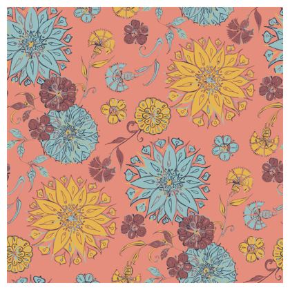 Multi-Florals (Coral & Yellow) Coasters