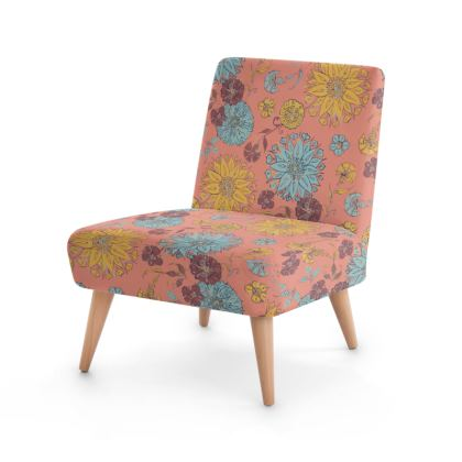 Multi-Florals (Coral & Yellow) Occasional Chair