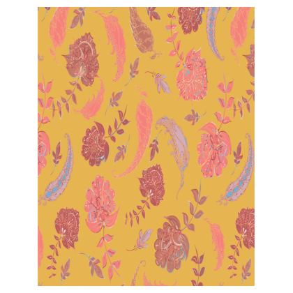 Patterns of Paradise (Yellow & Coral) Tray