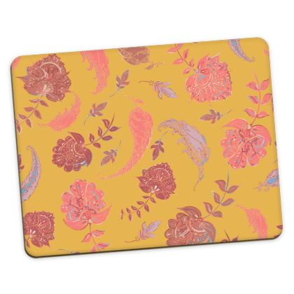 Patterns of Paradise (Yellow & Coral) Placemats