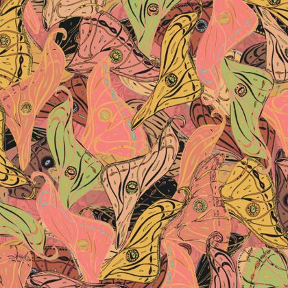 Butterfly Wings (Soft Coral) Coasters