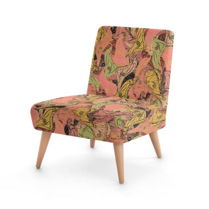 Butterfly Wings (Soft Coral) Occasional Chair