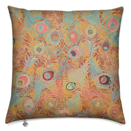 Peacock Feathers (Soft Coral) Cushion