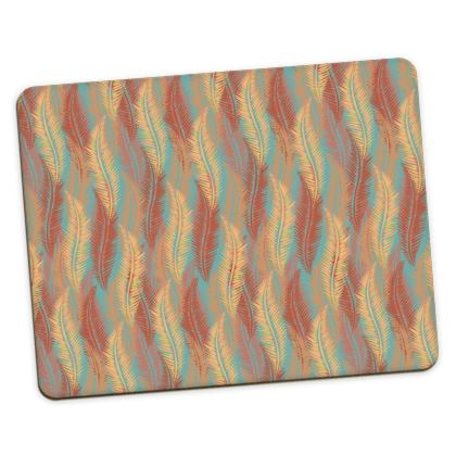 Feathers Stripe (Soft Coral) Placemats