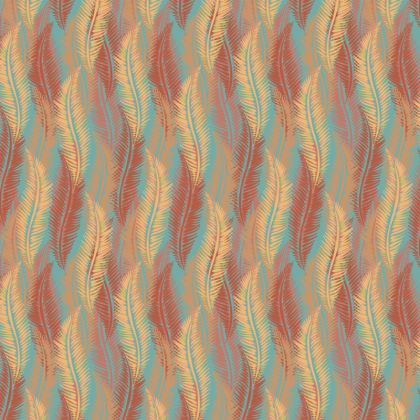 Feathers Stripe (Soft Coral) Coasters