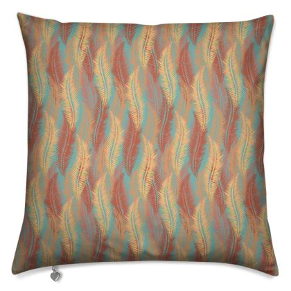 Feathers Stripe (Soft Coral) Cushion