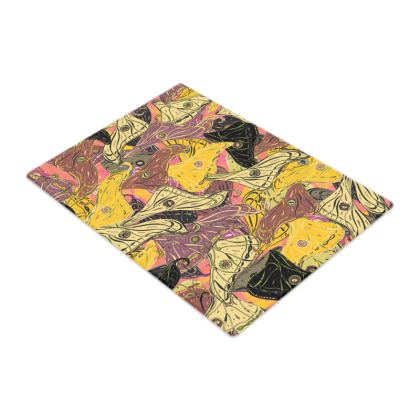 Butterfly Wings (Bold Yellow) Glass Chopping Board