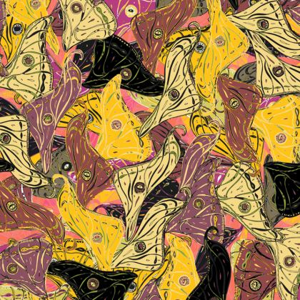Butterfly Wings (Bold Yellow) Coasters