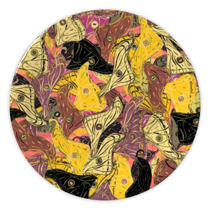 Butterfly Wings (Bold Yellow) China Plate