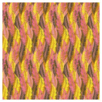 Feathers Stripe (Bold Yellow & Pink) China Plate