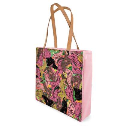 Butterfly Wings (Fresh Pink & Lime) Shopper Bags