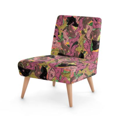 Butterfly Wings (Fresh Pink & Lime) Occasional Chair
