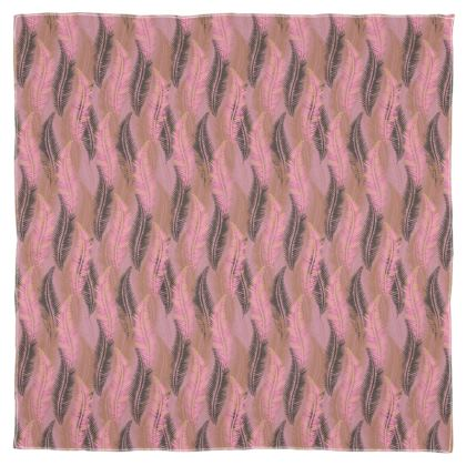 Feathers Stripe (Soft Pink) Scarf Wrap or Shawl