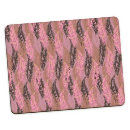 Feathers Stripe (Soft Pink) Placemats