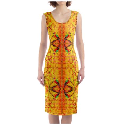 229,- Bodycon chilled luxury DRESS to IMPRESS Bodycon-Kleid ORCHID YELLOW size S