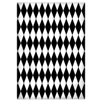 Duvet Cover Black And White Diamonds