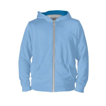 sports and Fitness -- Light Warm Blue Hoodie.  © 2019 Joanne Shaw.  All rights reserved.