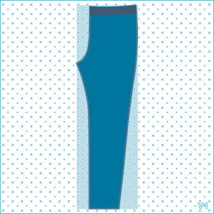 Basic Blue womens-jogging-bottoms.  © 2019 Joanne Shaw.  All rights reserved.