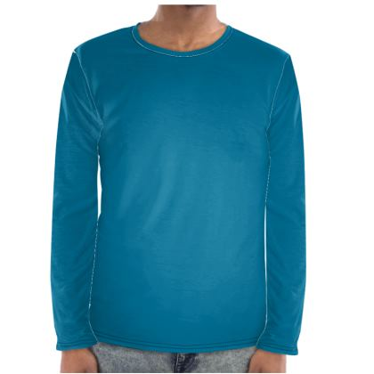 Simple Blue Long Sleeve Shirt.  © 2019 Joanne Shaw.  All rights reserved.