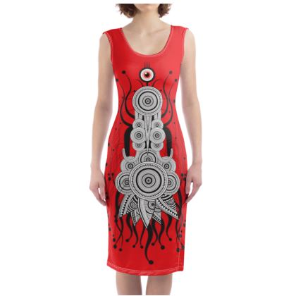 Spicy Space Bug Bodycon Dress