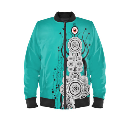 Spicy Space Bug Mens Bomber Jacket