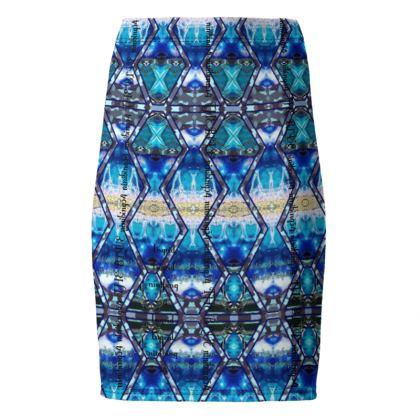 189,- Bleistiftrock BLUE VELVET size 38 in romanit Jersey