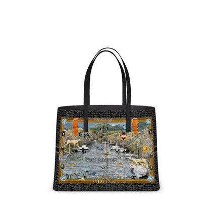 NEW!  BIG DESIGNER RETRO Tote Bag aus ital. Nappa Leder im Birkinbag Style