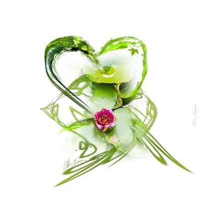 Zip Top Handbag - Zip top Handväska - Shades of Green white