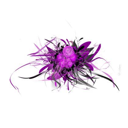 Zip Top Handbag - Zip top Handväska - Lilac white