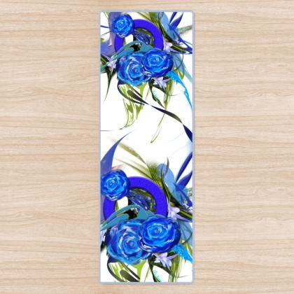 YOGA MAT - YOGAMATTA - Blue Flower white