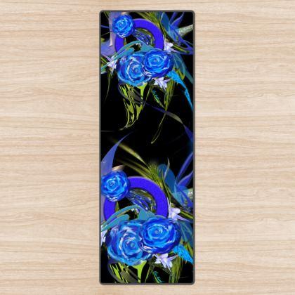 YOGA MAT - YOGAMATTA - Blue Flower black
