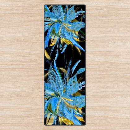 YOGA MAT - YOGAMATTA - Golden Blue black