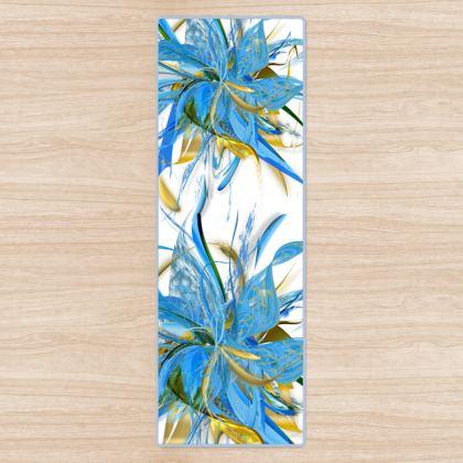 YOGA MAT - YOGAMATTA - Golden Blue white