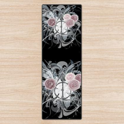 YOGA MAT - YOGAMATTA - Flower triangle black