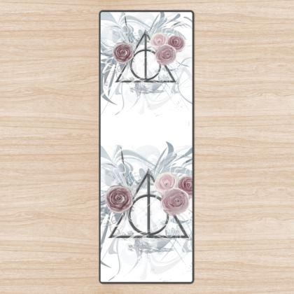 YOGA MAT - YOGAMATTA - Flower triangle white