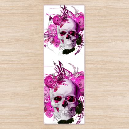 YOGA MAT - YOGAMATTA - Skull Pink Fantasy white