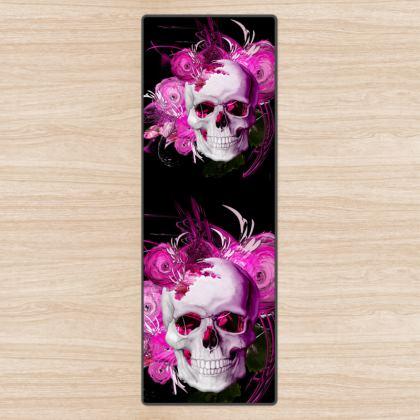 YOGA MAT - YOGAMATTA - Skull Pink Fantasy black