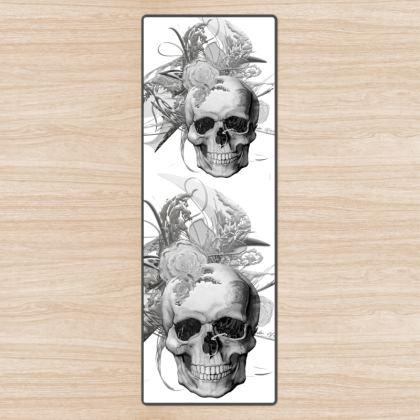 YOGA MAT - YOGAMATTA - Skull 50 shades of grey white