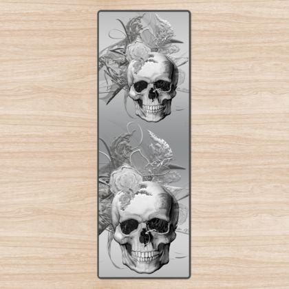 YOGA MAT - YOGAMATTA - Skull 50 shades of grey silver