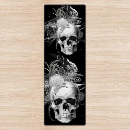 YOGA MAT - YOGAMATTA - Skull 50 shades of grey black