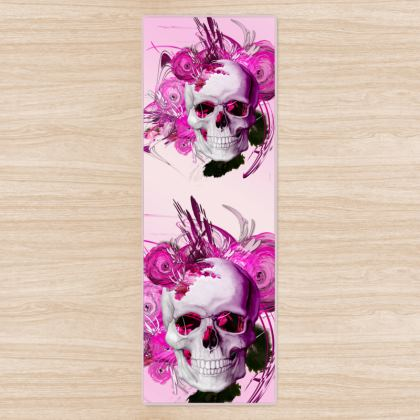 YOGA MAT - YOGAMATTA - Skull Pink Fantasy pink