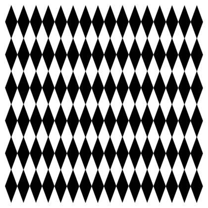 Cushion Black And White Diamonds