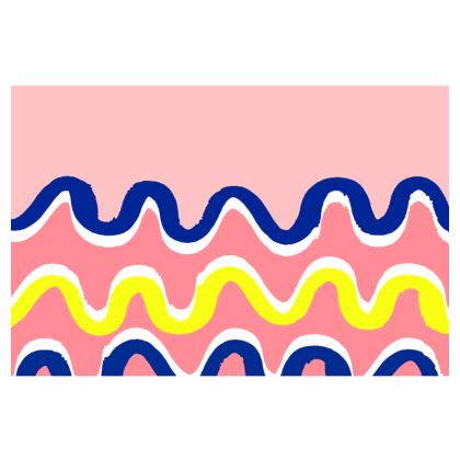 Hello There First Impressions Faux Leather Clutch Bag in Pink Wiggle Print