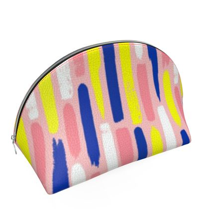 Hello There First Impressions Shell Cosmetics Bag in Painted Stripe