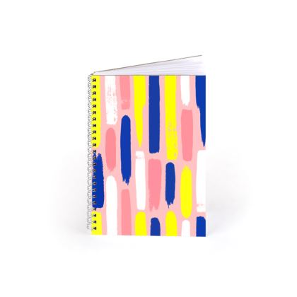 Hello There First Impressions Spiral Notebook in Painted Stripe