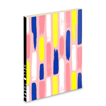 Hello There First Impressions Pocket Notebook in Painted Stripe